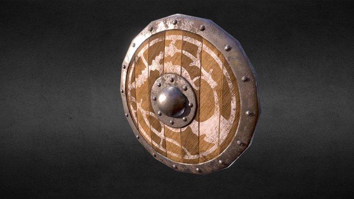 Shield Low Poly V2 3D Model