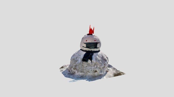 Big Snowman 3D Model