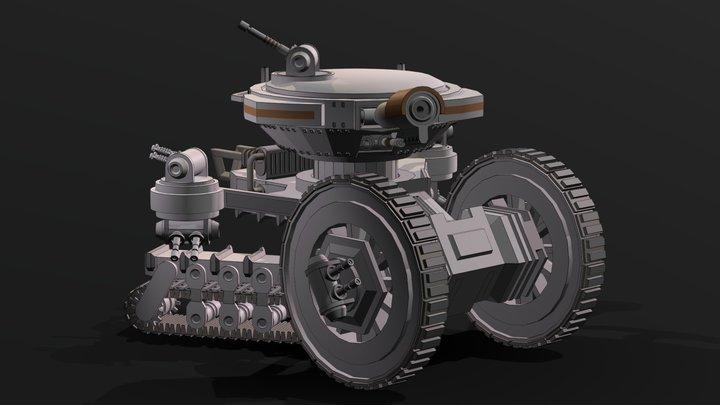 YTTK-1 Droffi-Class Siegebreaker Tank 3D Model