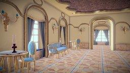 Palace interior 3D Model