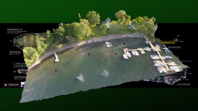 Shelburne Shipyard Steamboat Shipwreck Site 3D Model
