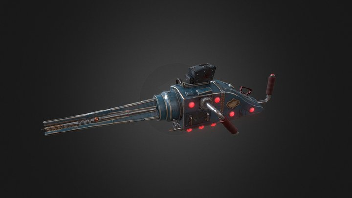 The Outer Worlds Tri-Plasma Rail 3D Model