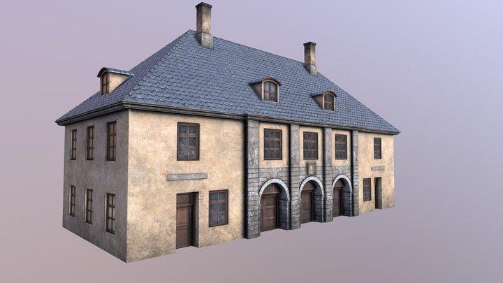 Christiania Fjerde Tollbod (arkitekttegning) 3D Model