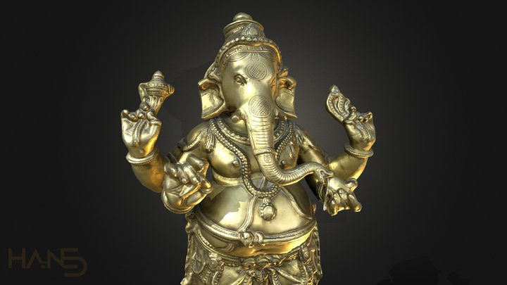 Ganesha Statue 3D Model