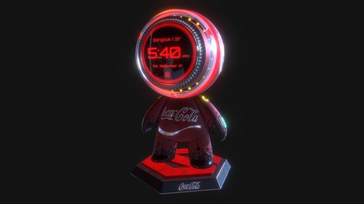 Coca Cola Clock 3D Model