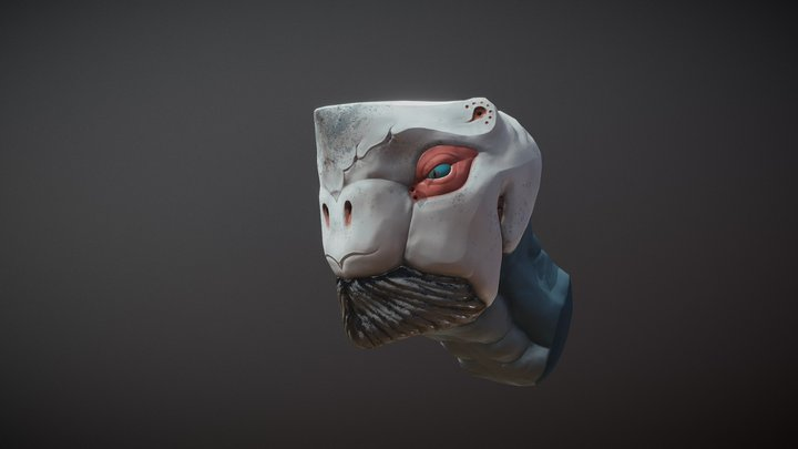 Head of alien creature 3D Model