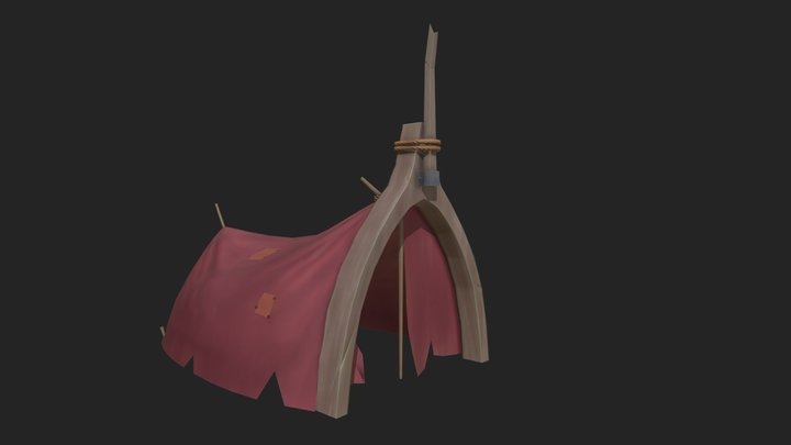 Stylized Hut 3D Model