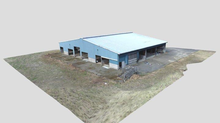 Pole Building Single Orbit 3D Model