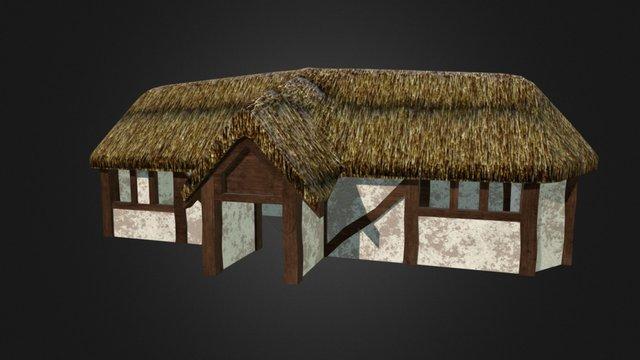 Roman Farmhouse Before the Fire. (WebGL Asset) 3D Model