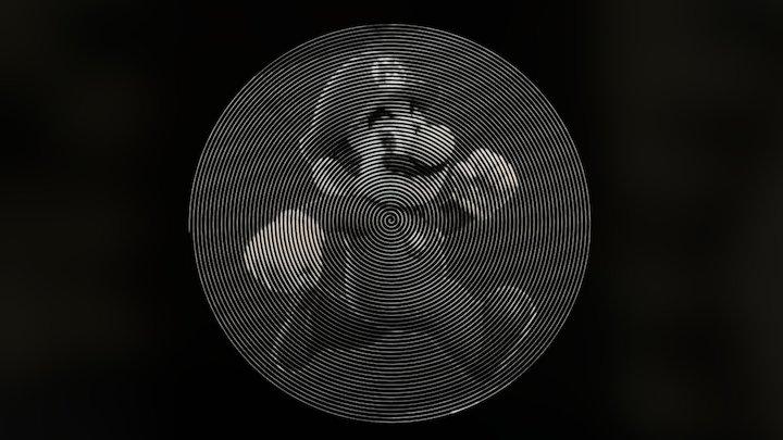 Super Mario Spiral Art 3D Model