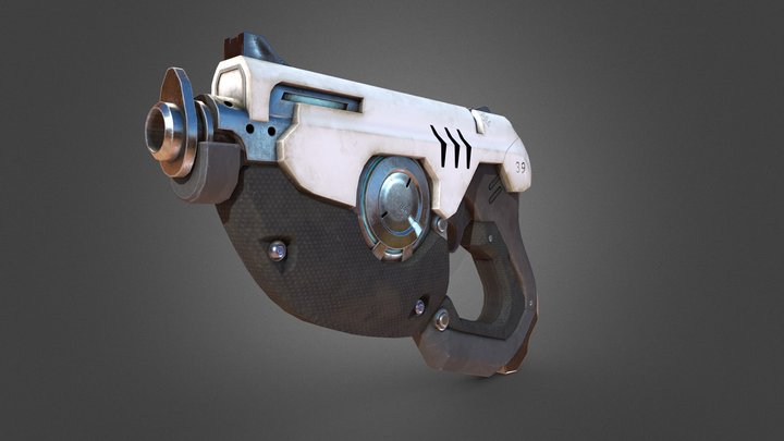 Tracers Gun From Overwatch 3D Model