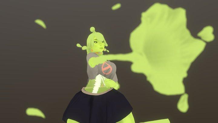 Slimey Girl - Textured 3D Model