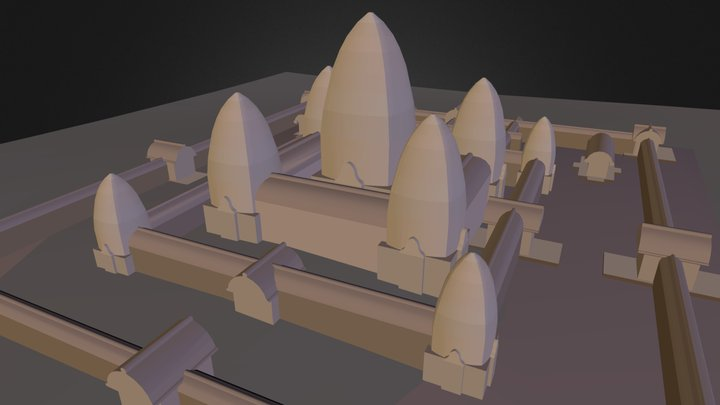 Angkor_Toch.3ds 3D Model