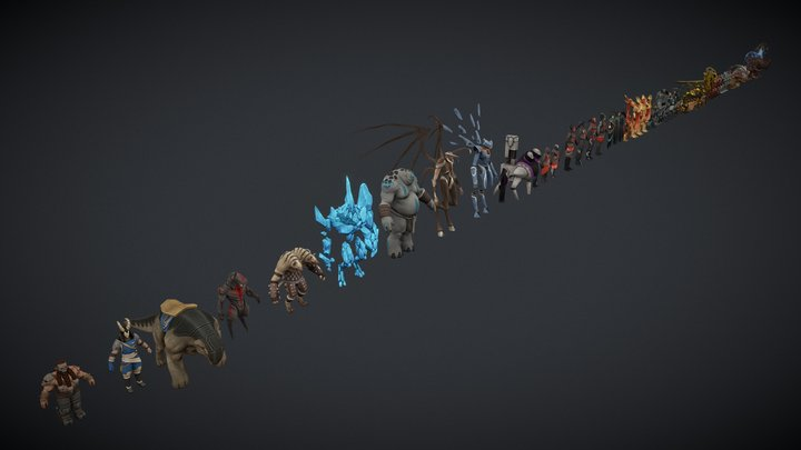 Endless Legend characters 3D Model