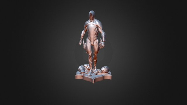 Warframe Excalibur STL - Scan in a Box 3D Model