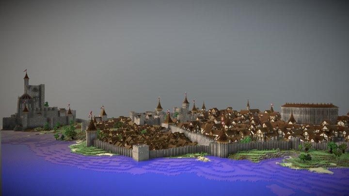 Medieval City Tafelrod 3D Model