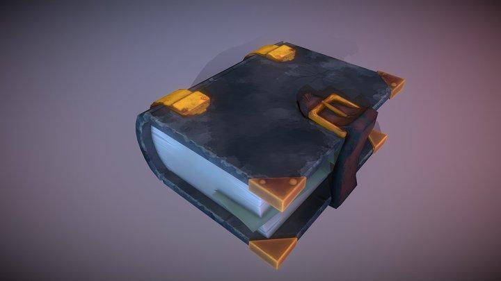 Stylized Book 3D Model