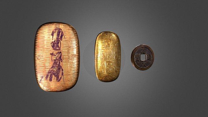 Tokugawa coins 3D Model