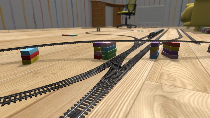 Toy Railway 3D Model