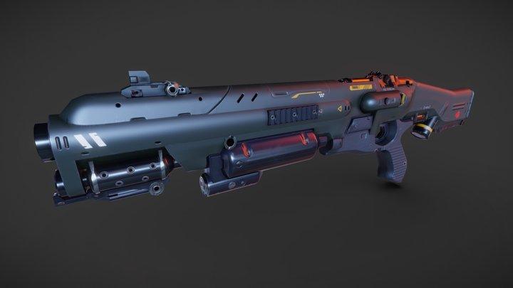 Doom (2016) - Combat Shotgun 3D Model