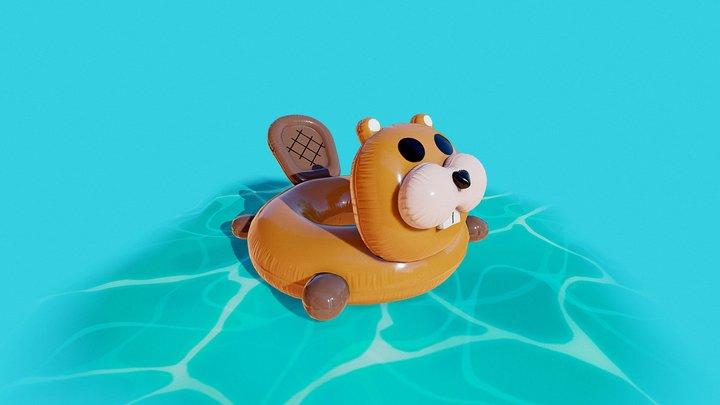 Inflatable Beaver 3D Model