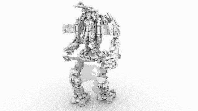 Badass exosuit 3D Model