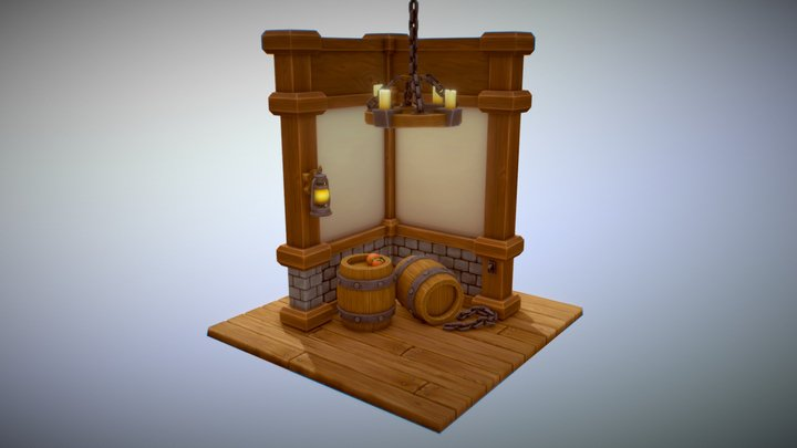 Low_Poly_Medieval_Props_03 3D Model