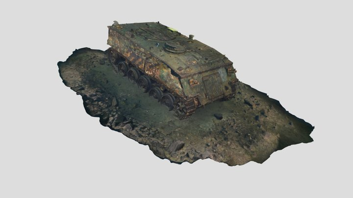 FV432 APC Tracked Armoured Personnel Carrier 3D Model