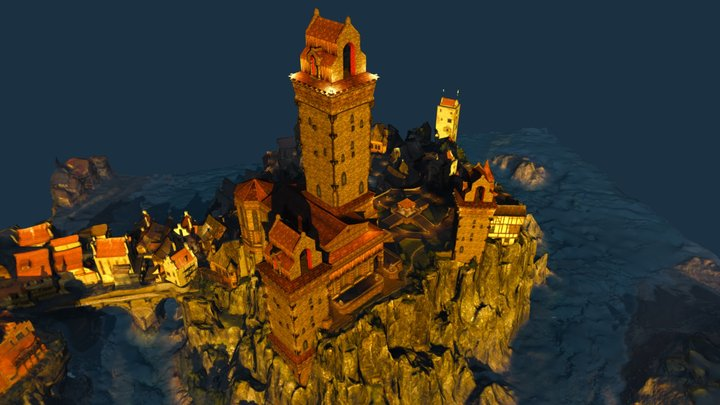 Witcher: The Great Temple Of The Eternal Fire 3D Model