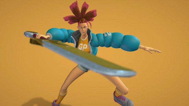 Girl Power 3D Model