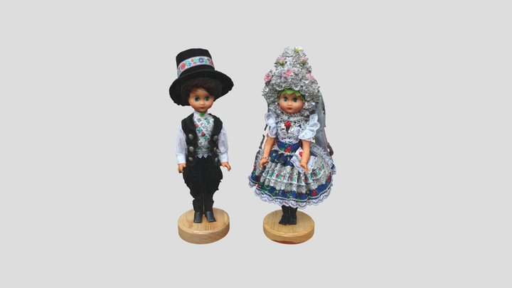 Bábiky z Čajkova / Dolls from Čajkov 3D Model