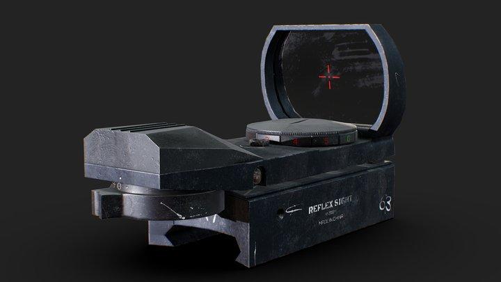 Reflex Dot Sight (Crystals Of Theia) 3D Model
