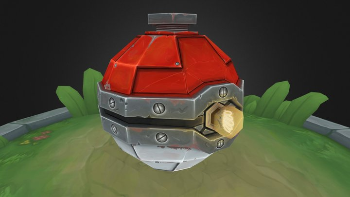 Pokecraft: 01. Pokeball 3D Model