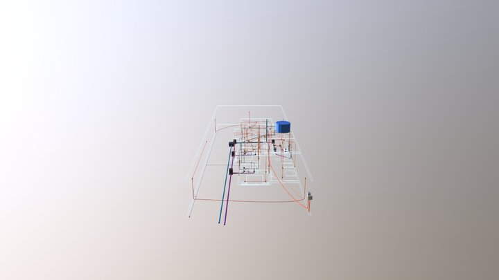 Instalações Linear 3 Vivaz 3D Model