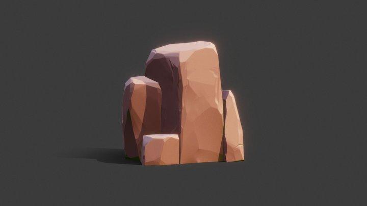Stylized stones props 3D Model