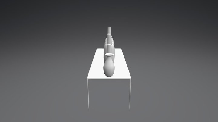 The cups are on the table 3D Model