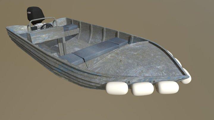 Aluminium Dory 3D Model