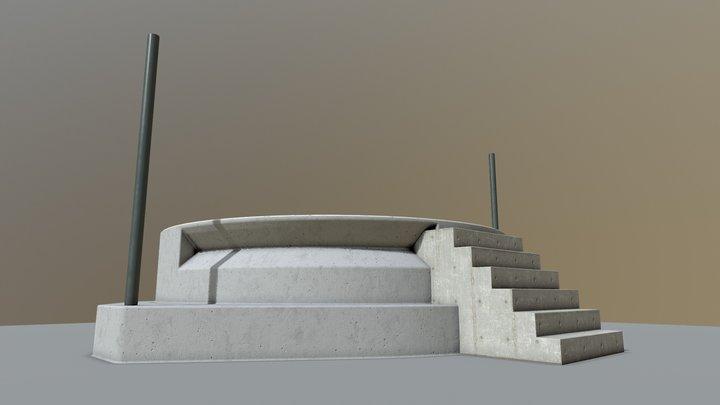 Podium Test 001 3D Model