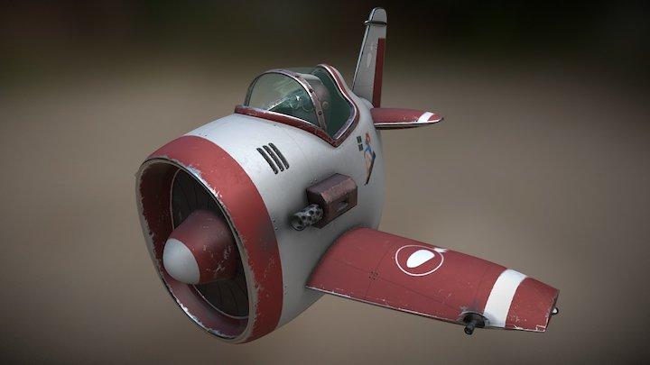 Plane PBR 3D Model