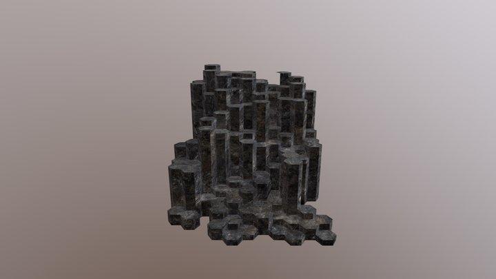Basalt Columns 3D Model