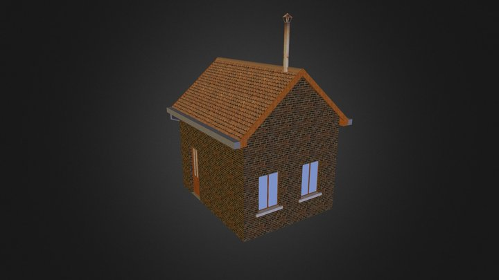 petite maison de gare 3D Model