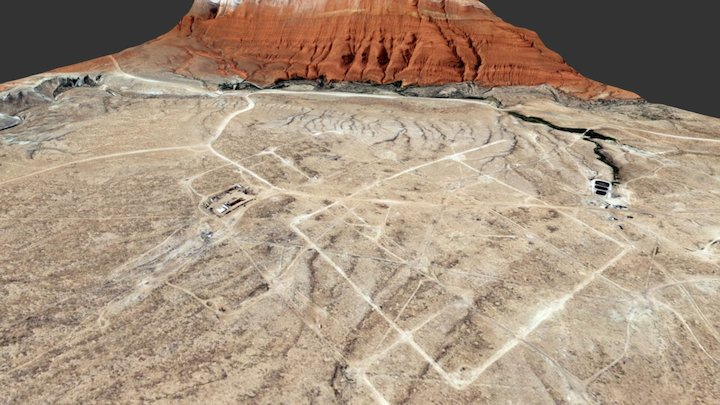 Spence Dome oil field, Wyoming, USA 3D Model