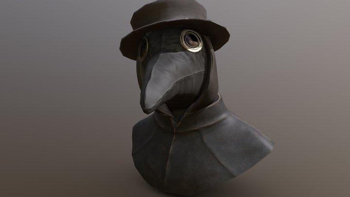 Plague Doctor bust 3D Model