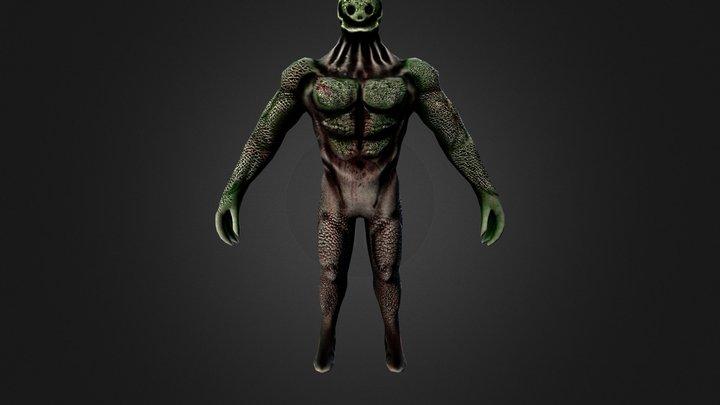 Alien-Low Poly 3D Model