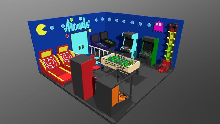 Arcade shop interior 3D Model