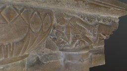 Carvings S of chancel, Melbourne church, Derbys 3D Model