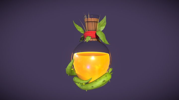 Thorny Potion 3D Model