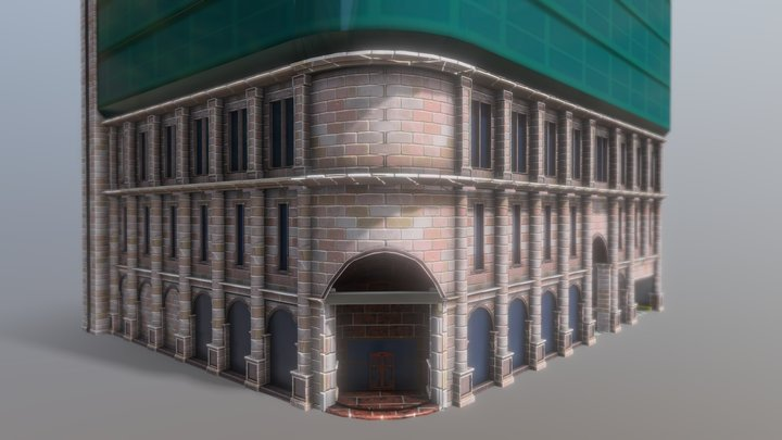 Downtown Hotel 3D Model