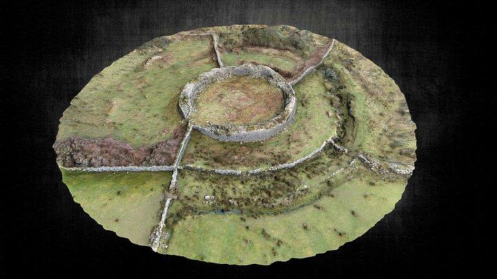 Cahersavane Early Medieval Ringfort 3D Model