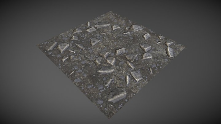 Stone Rubble Tile 3D Model